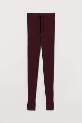 H&M Ribbed Cashmere Leggings - Red