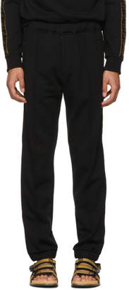 Fendi Black Retro Logo Lounge Pants