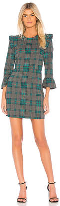 J.o.a. Long Sleeve Plaid Mini Dress