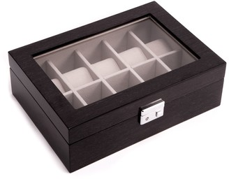 Bey-Berk Bey Berk Lacquered Wood Gray Watch Storage Case