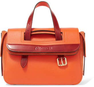 J.W.Anderson Tool Mini Leather And Suede Tote - Orange