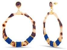 Catherine Malandrino Round Link Octagon Earrings