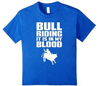 Bull Riding In My Blood Rodeo Cowboy Cowgirl T-Shirt