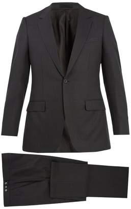 Kilgour Single Breasted Wool Blend Suit - Mens - Grey