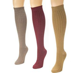 Muk Luks Women's 3-Pair Boot Sock Pack