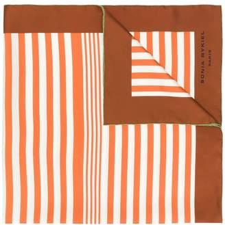 Sonia Rykiel reversible stripe scarf