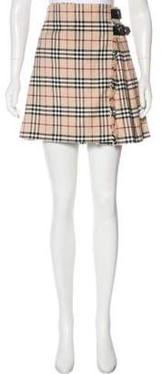 Burberry House Check Mini Skirt