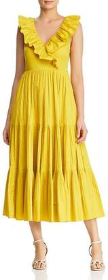 Kate Spade Ruffled-Collar Midi Dress