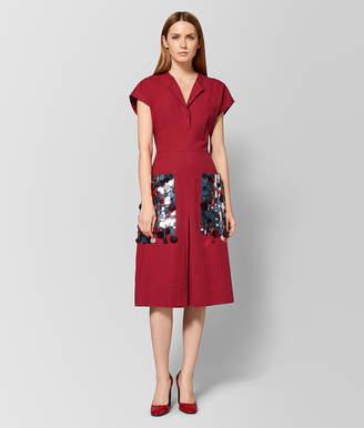 Bottega Veneta CHINA RED LINEN DRESS