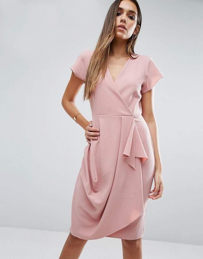 Asos ASOS Drape And Waterfall Skirt Dress
