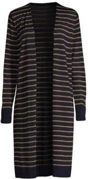 Lafayette 148 New York Long Striped Cardigan