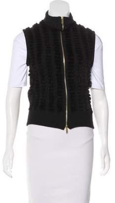 Gucci Fur-Paneled Camel Vest