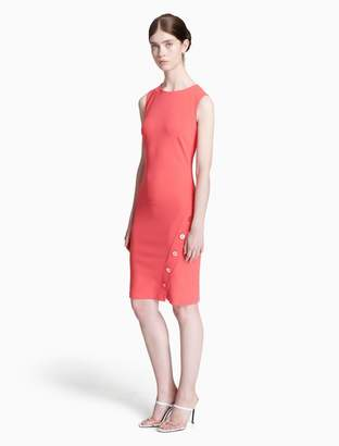 Calvin Klein button sheath dress