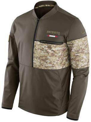 Nike Men's New England Patriots Salute To Service Hybrid Half-Zip Jacket