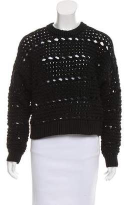 Proenza Schouler Open Knit Cropped Sweater