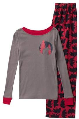 Joe Fresh Long Sleeve Top & Bottom Pajama Set (Big Boys)