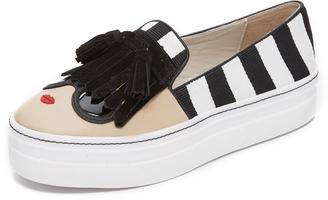 alice + olivia Stace Face Platform Slip On Sneakers $198 thestylecure.com