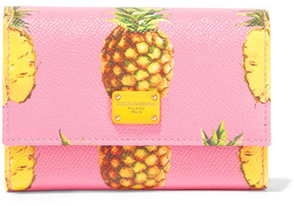 Dolce & Gabbana - Printed Textured-leather Wallet - Pink $545 thestylecure.com