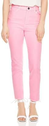 Sandro Robyn Cropped Slim-Leg Jeans