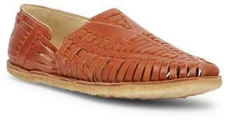 Toms Cognac Leather Huarache Sandal