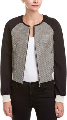 Karen Millen Graphic Geo Tweed Jacket