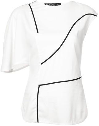 Valery Kovalska contrast stripe asymmetric top