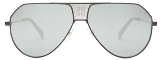 Givenchy Gv 7137/s Aviator Metal Sunglasses - Mens - Black