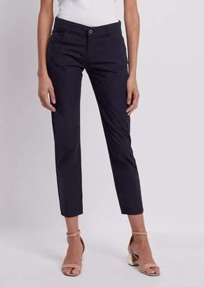 Emporio Armani Slim Fit J36 Jeans In Garment-Dyed Pelleovo Fabric