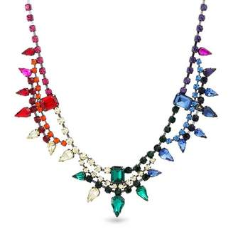 Steve Madden Multi-Cut Rhinestone Statement Necklace