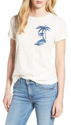 Lucky Brand Embroidered Palm Tee