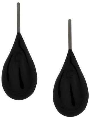 Tomas Maier enamel drop earrings