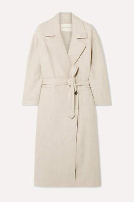 Mara Hoffman Atlas Oversized Belted Melange Wool Coat - Beige