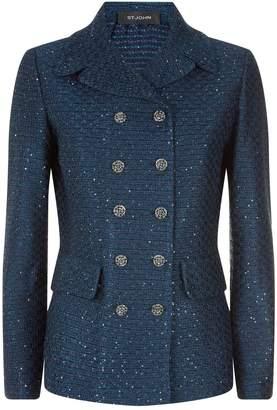 St. John Tweed Double Breasted Jacket