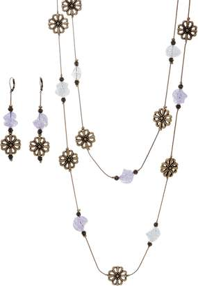 Linea By Louis Dell'olio by Louis Dell'Olio Flower and Bead Necklace Set