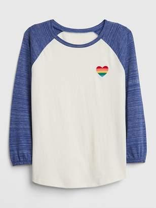 Gap Embroidered Heart Raglan T-Shirt