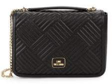 Love Moschino Channel Quilted Crossbody Bag