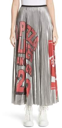 Marc Jacobs Pizza Print Pleated Skirt