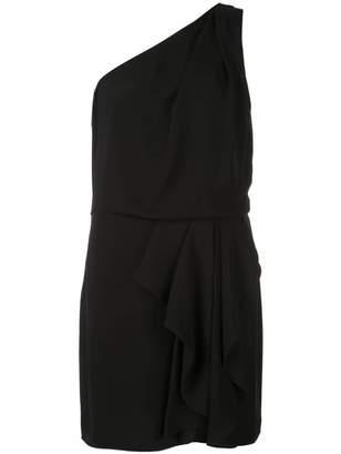 Halston asymmetric fitted mini dress