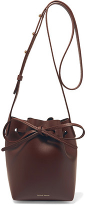 Mansur Gavriel - Mini Mini Leather Bucket Bag - Burgundy $475 thestylecure.com