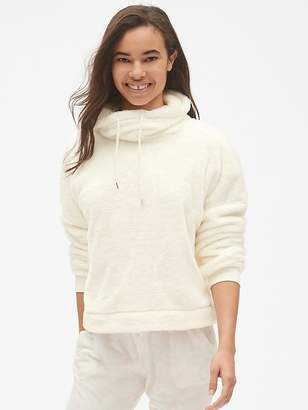Gap Sherpa Funnel-Neck Pullover Sweatshirt