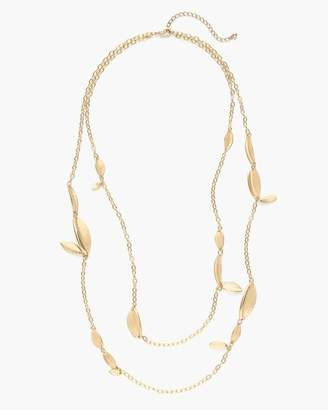 Gold-Tone Leaf Long Necklace