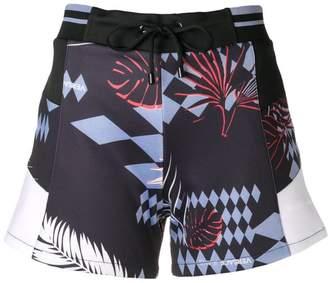 Versace colour-block drawstring shorts
