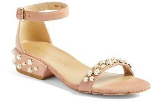 Women's Stuart Weitzman Allpearls Ankle Strap Sandal $445 thestylecure.com