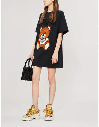 Moschino Teddy-embroidered cotton-jersey T-shirt
