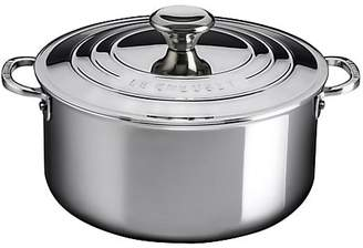 Le Creuset 5.5-Quart Stainless Steel Casserole with Lid