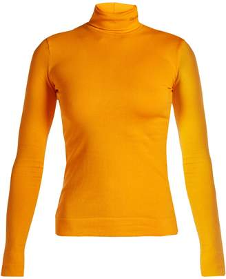 Calvin Klein Logo-embroidered roll-neck jersey top