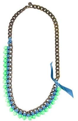 Lanvin Woven Bead & Chain Necklace