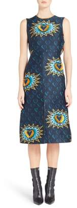 Fendi Heart Jacquard Midi Dress