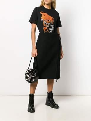 P.A.R.O.S.H. fringe detail skirt