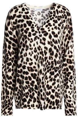 Equipment Lucinda Leopard-Print Cashmere Sweater